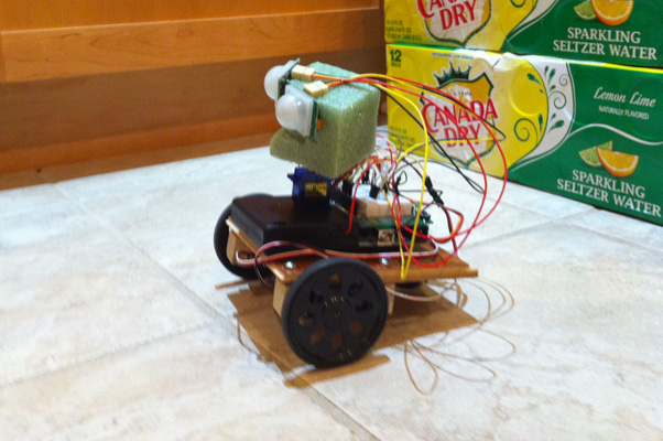 Robot left view